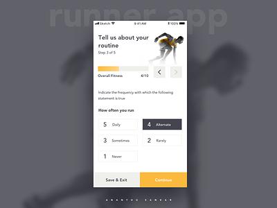 Runner App - concept runner white minimal ios mobile ui ux app ui