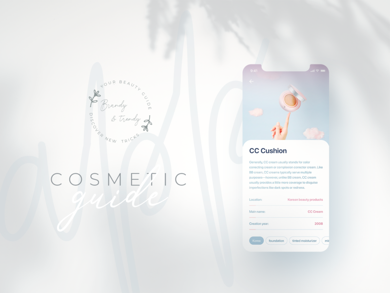 Beauty Cosmetic Guide APP beauty mobile app guide ux design ui cosmetic inspiration clean app design app