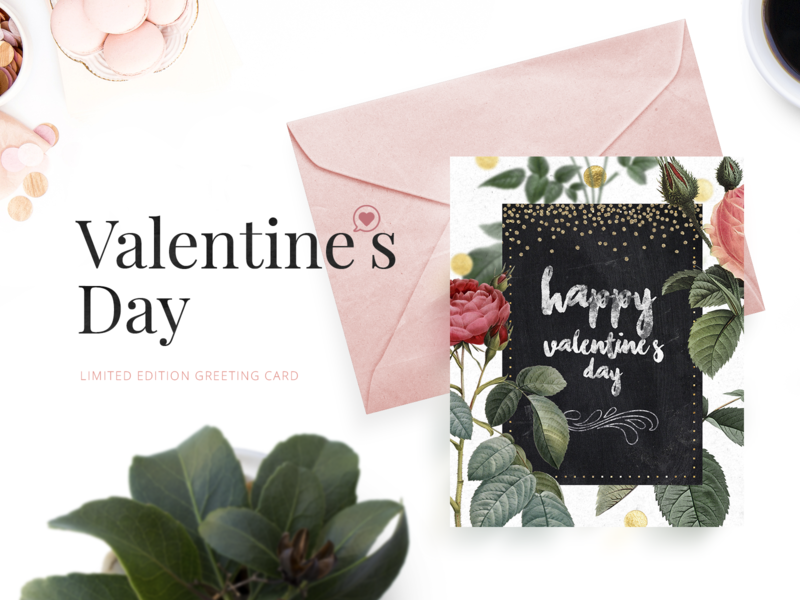 Valentine's day limited edition greeting card print lovely sweet limited edition printing greeting card valentine day valentines card