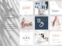Wedding Theme Instagram | Social Media Post Template marriage blogger blog design instagram social media pack instagram template insta post instagram post social media wedding