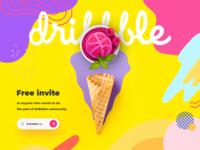 Dribbble Invite free invite friends giveaway invite free invite invite giveaway dribbble invitation dribbble invite