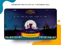 Pet memorial wall (Halloween theme) illustration design halloween cartoon colorful illustration fun desctop web website design color website ui design concept