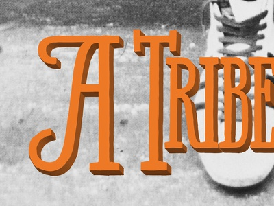 A Tribe ... called Quest? lettering photoshop 3d cover artwork typography