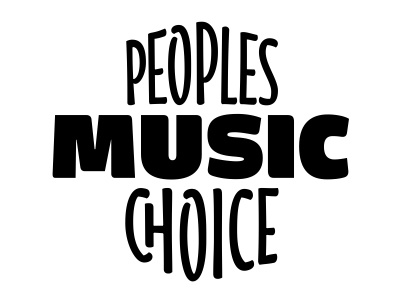 People music choice lettering