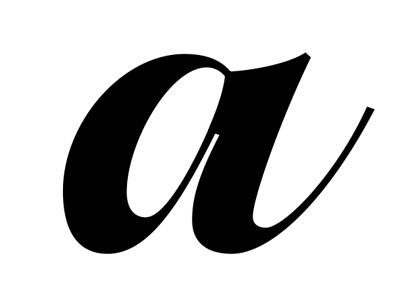 small /a script letter