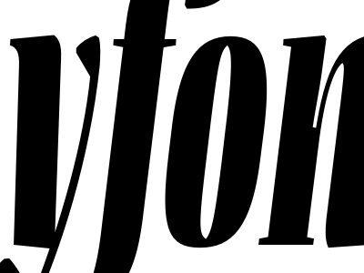 Flenja flenja typeface type design