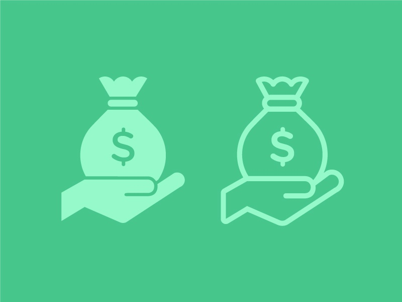 Money Bag Icon money bag icon line illustration hand dollar sign vector freebie .ai illustrator