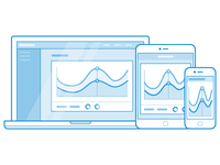 Responsive Dashboard Graphic