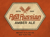 Red Russian Amber Ale - Red Benny Font