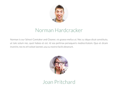 Meet the staff... school joomla ui css3 html5 minimal real pixels