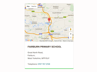 School Map Card school cms craft craftcms material design