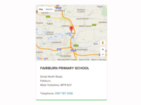 School Map Card