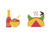 Gelato, prosecco and fish tacos