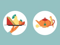 Waitrose Food Magazine icons