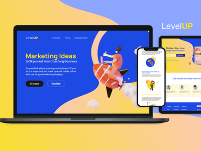 My new idea for web site design with 3D illustrations layout site 3d webdesign landing page ux figma website web ui design