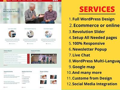 I will create a modern and responsive WordPress website design elementor elementorwebsite wordpresswebsite wordpress