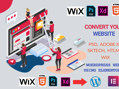 I will convert html,abode xd,psd,figma,wix to wordpress website wixtowordpress htmltowordpress convertwebsite wordrpesswebsite wordpress