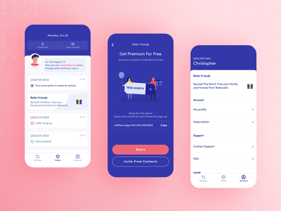 Personal assistant application icon set icons assistant secretary ai call invite account profile referral home mobile application ux design app ui