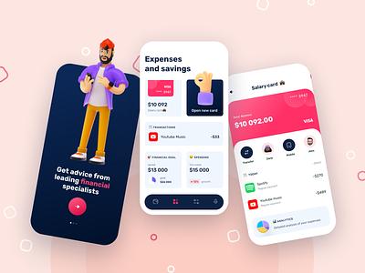 Mobile banking app concept 💰 balance mobile banking banking app banking transactions spending dashboad cards finance app finance mobile application app ux design ui