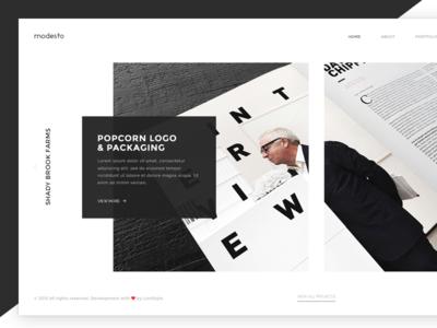 Portfolio website minimal clean web ui design portfolio