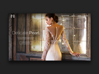 Fashion Brand Website Teaser ui wedding website design website fashion dress bridal