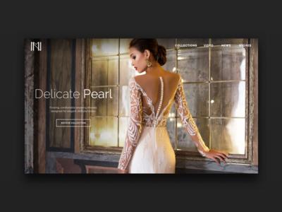 Fashion Brand Website Teaser ui wedding website design website fashion dress bridal