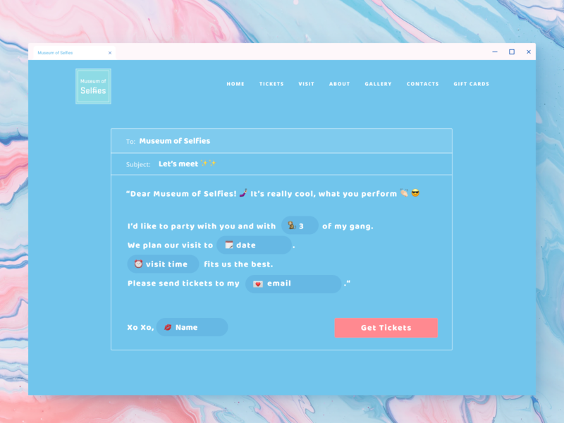 Ticketing purchase concept 🎟 userinterface user experience visual design ui fields form blue design website web concept buy museum ticket purchase ticketing