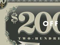 $200 Rebate-Second stage