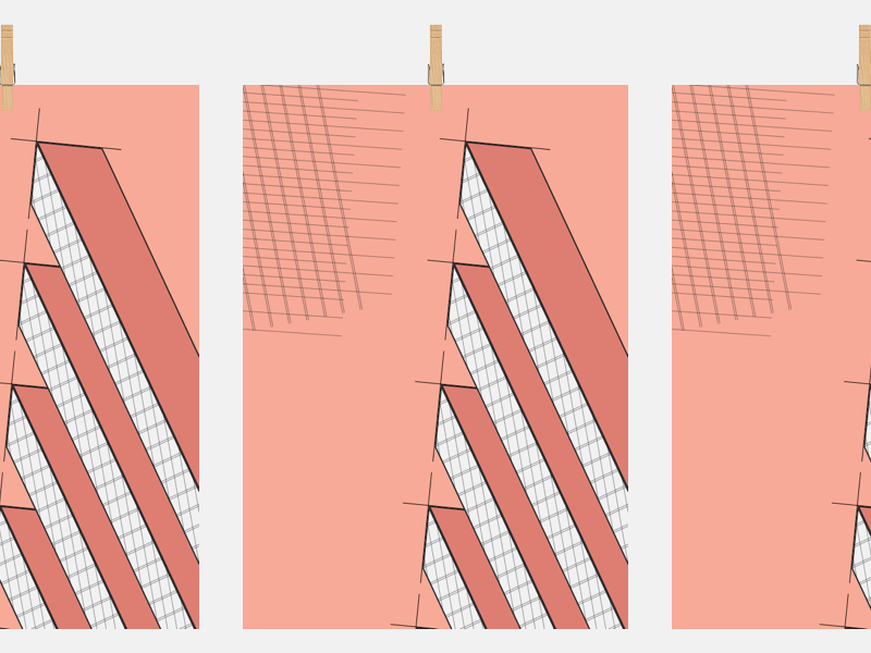 Beams print poster shapes pattern illustration grid
