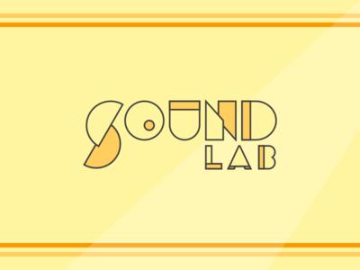 Sound Lab Logo record lab sound typography type mark colors branding brand logo