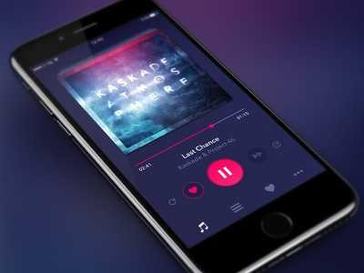 Streaming Music App stream audio playback iphone playlist artist album ui music ios app