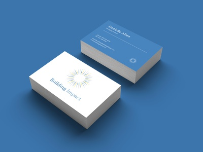 Business Card Design for Building Impact