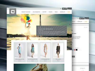 Web Design for M-Fashions
