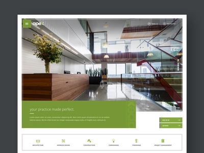 Initial design concept for a design build firm in Chicago