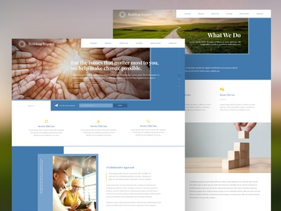 Web Design for a Philanthropic Advising Firm