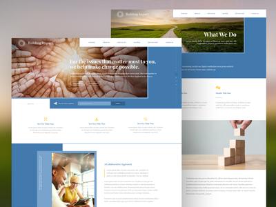 Web Design for a Philanthropic Advising Firm
