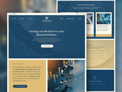 Web Design for Private Investment Firm