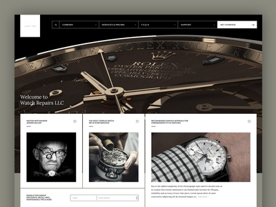 Design Concept for a Watch Repair Company