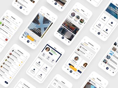 Mobile UIUX Design for JetAirways GlobalLinker