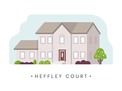 OHIO ohio suburb home house design illustration
