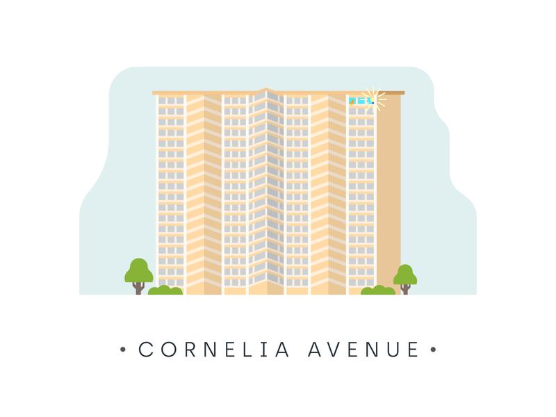 CHICAGO chicago city apartment home design illustration