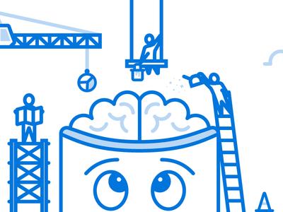 Diligently Designed Data brain data construction infographics technology tech