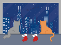 Chicago Christmas Cats 🐱🎅🏻
