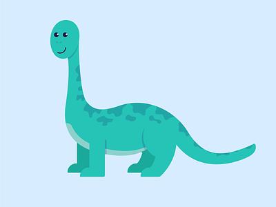 Apatosaurus apatosaurus dino brachiosaurus brontosaurus dinosaur design illustration