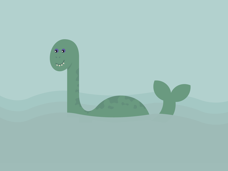 Loch Ness Monster! spooky halloween fall icon iconography design illustration