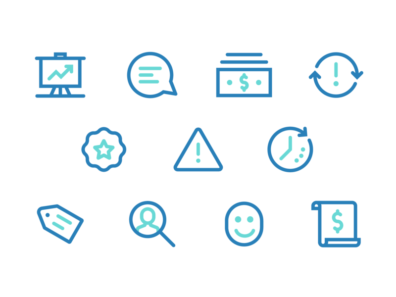 Business Icons icons business vector ui tech icon iconography design illustration
