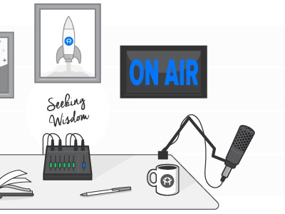 Podcast microphone on air live podcast