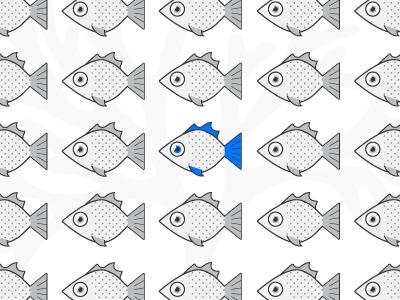 One fish, two fish, grey fish, blue fish