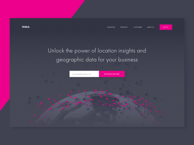 Landing page exploration 3d layout ui typography bright color illustration landing design