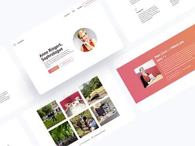 Sophrologist website sophrologist ui design website minimal visual design ui design